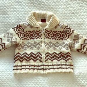 Gap baby thick knit zip up grandpa sweater.